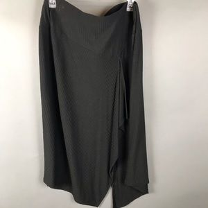 Calvin Klein Black textured midi skirt